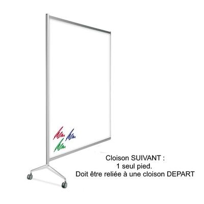 Cloison TEN-LIMIT Tableau blanc stratifié double face, magnétique