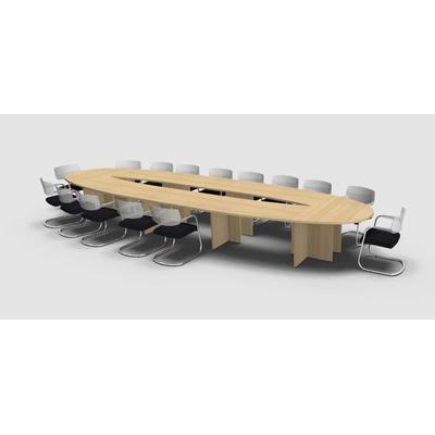 Table MEETING-PRO en U, pour 18 personnes, pieds métal