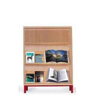 Bibliothèque presentoir à tablettes inclinées, modèle H180 cm