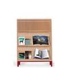 Bibliothèque presentoir à tablettes inclinées, modèle H140 cm