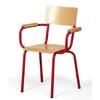Chaise de professeur JULIAN (assise et dossier en applique), accoudoirs bois