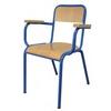 Chaise de professeur MELANIE (assise et dossier encastrés), accoudoirs hêtre