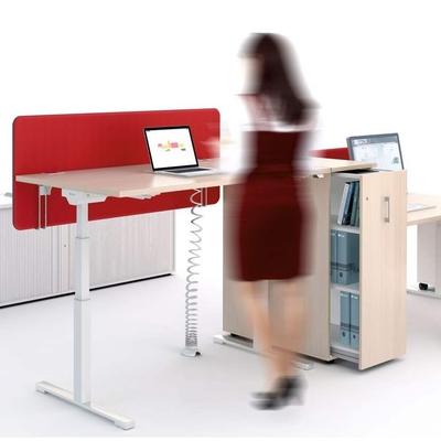 CARGO peut faire séparation entre 2 bureaux juxtaposés, tout en apportant beaucoup de capacité de rangement de proximité.
