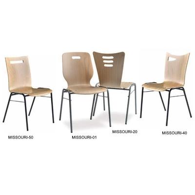 MISSOURI, chaise bois empilable accrochable