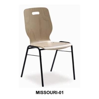 Chaise MISSOURI, chaise bois empilable, accrochable (option)