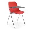 BAKEA, chaise Polypro empilable avec tablette écritoire