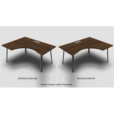 Ambiance, bureau compact YOGI-A, avec voile de fond métallique