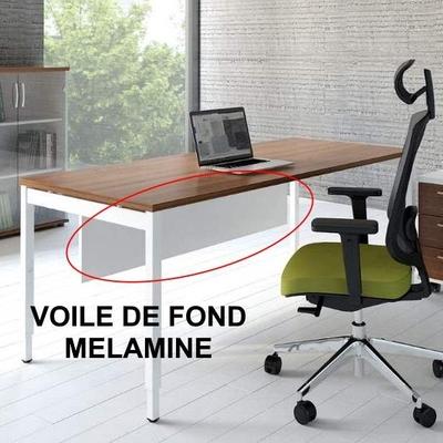 Voile de fond métallique pour gamme de bureaux YOGI