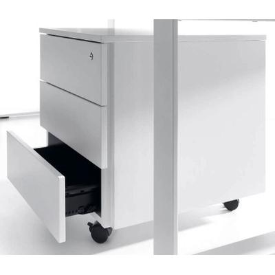 Caisson mobile WOOD, 3 tiroirs ou 1 tiroir + tiroir DS