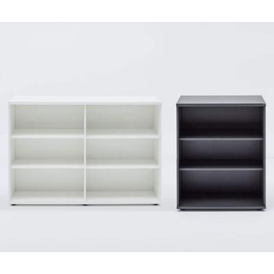 Armoire mi-haute WOOD, H113 cm, avec ou sans portes