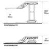 Station assis-debout LOTUS, dimensions