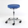 Tabouret ergo assis-debout, assise ergo-shape, réglage de hauteur par anneau