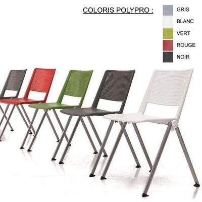 Chaise SMASH, assise Polypro ou tissu