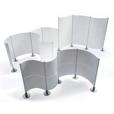 Cloisons SLALOM transparentes, dans un open-space