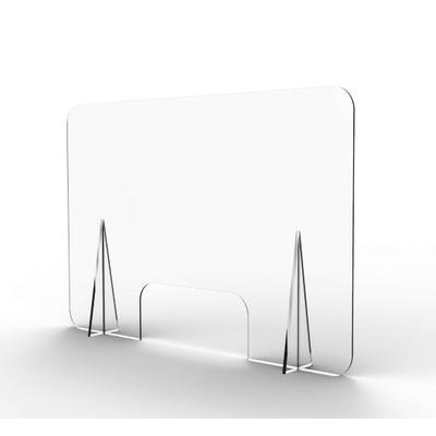 Ecran de comptoir avec fenêtre, idéal pour les commerces, pour l'accueil du public