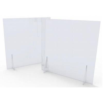 Ecrans de comptoir sans fenêtre, sur 2 pieds. Idéal pour la séparation de bureaux