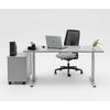 Bureau DRIVER réglable, en position de travail assis : adaptez parfaitement la hauteur du bureau