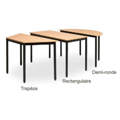 Table ANTONIO 1/2 ronde ou trapèze