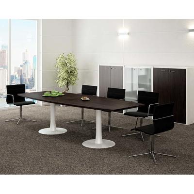 Table IDEA tonneau avec 1 extension centrale, 10/12 places