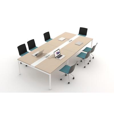 Table modulaire YOGI : module SUIVANT, pieds en retrait