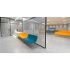 Banc d'accueil ILDU, banc 3 places + extension 2 places, revêtement tissu