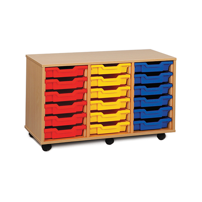 Les meubles CARL à bacs sur glissières sont proposés en 3 hauteurs, et en 2, 3 ou 4 colonnes