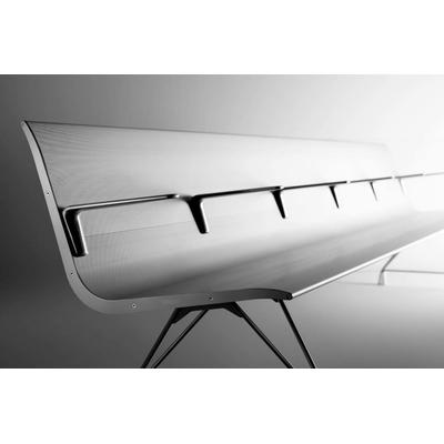 Banc d'accueil AERO 7 places. Un magnifique extrudé d'aluminium, sur 2 pieds inox.