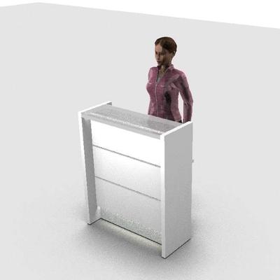 Petit comptoir debout, L92 cm
