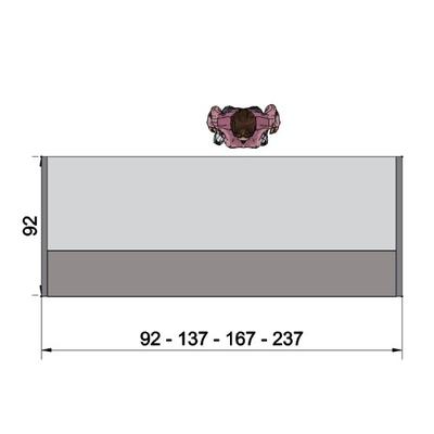Banque droite H110 cm, panneaux latéraux